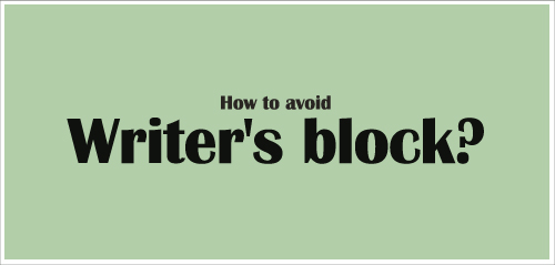 how to get out of writers block