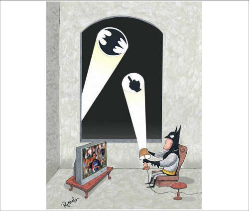 Hahaha Batman and Sachin
