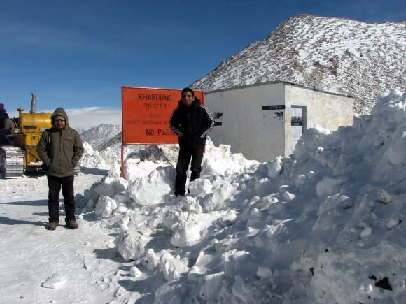 With Vijay at Khardungla in winters