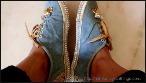 DIY Denim Shoes - BlogAdda Collective