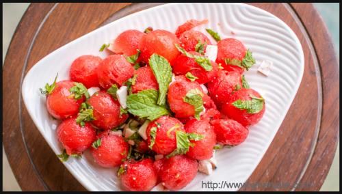 Salad - Watermelon And Mint Salad By Mridul Karkara And Neha Gupta