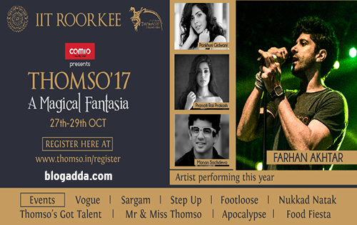 Thomso 2017, IIT Roorkee Cultural Festival
