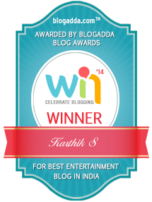 The Best Entertainment Blog in India awarded by BlogAdda