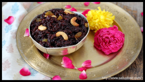 beetroot-halwa-diwali-sweets-collective