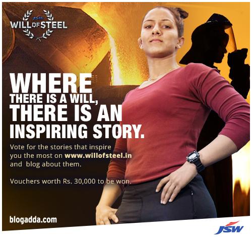 #WillOfSteel activity BlogAdda Contests