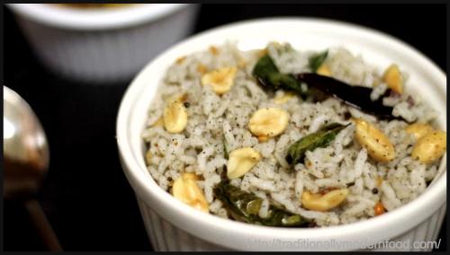 """Sesame Seed Rice   Elu Sadam by Vidya Srinivasan"""