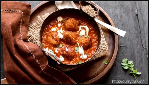 """Cauliflower Paneer Kofta Curry by CurryTrail"""