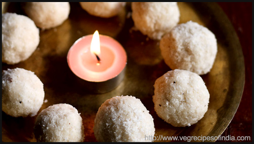 """Coconut ladoo recipe by Dassana Amit"""
