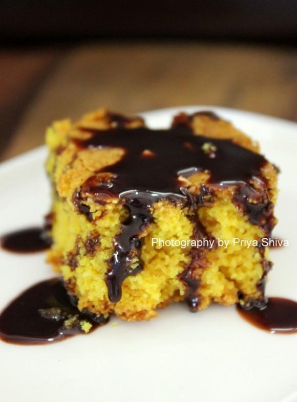 eggless turmeric cake