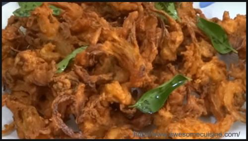Breakfast Chickpeas Mint Pakoda Recipe by Vaijayanthi Srinivasan