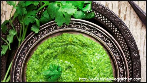 Lunch (Main Course) - Cilantro Mint Jalapeno Hummus By Binjal
