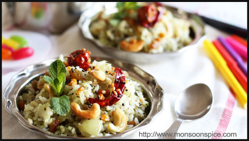 Dinner - Mint and Coconut Rice Recipe By Sia