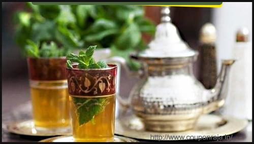 Drinks - Moroccan Mint Tea Recipe GunPowder By Purva Mittal