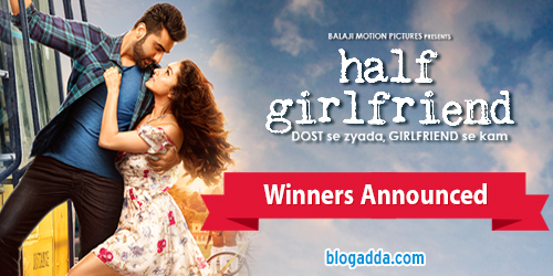 Image result for blogadda halfgirlfriend contest winner badge
